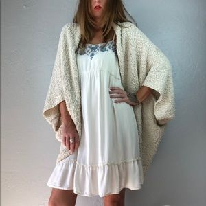 White Boho Dress Medium
